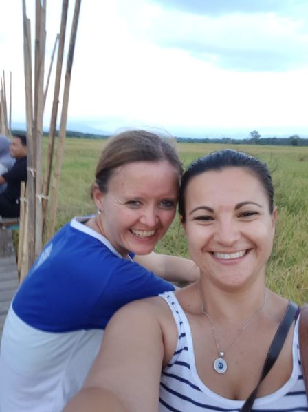 Rice fields with one of my best friends, Gloria