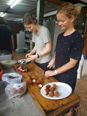 Prepared fruit for monks